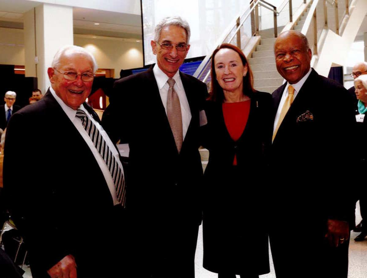 (L to R) The Hon. Robert Michel; Jay Gershen, DDS, Ph.D.; Mary Woolley; Louis Sullivan, M.D.