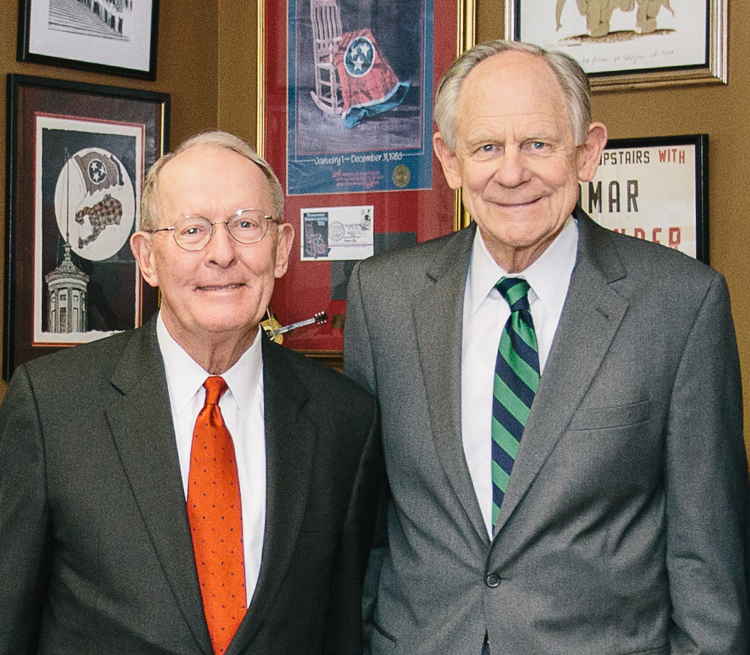 (L to R) Sen. Lamar Alexander, The Hon. Michael Castle