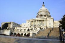A picture of the US capitol building