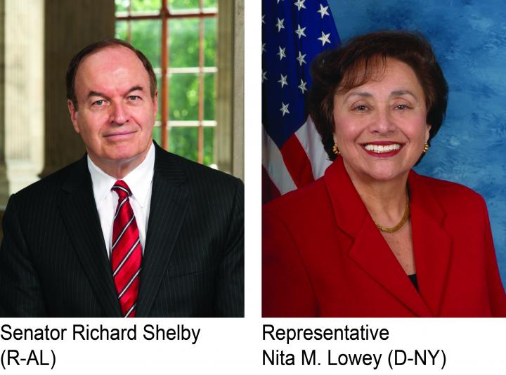 Senator Richard Shelby and Representative Nita Lowey