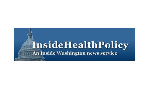 Inside Health Policy Logo (Blue Background and White Text)