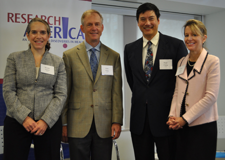 Panelists at the event included Wendy Taylor, left; Rick King, PhD; Hugh Chang; and Emily Moore.