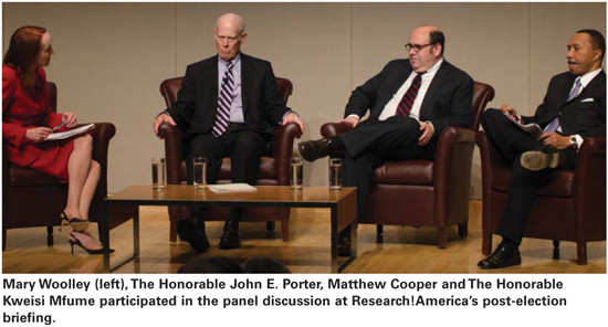 Panelists at Research!America's post-election event