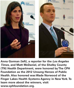 2012 Unsung Heroes of Public Health winners